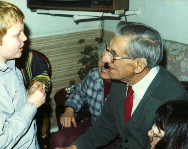 Ted's 90th birthday - 18/01/1989