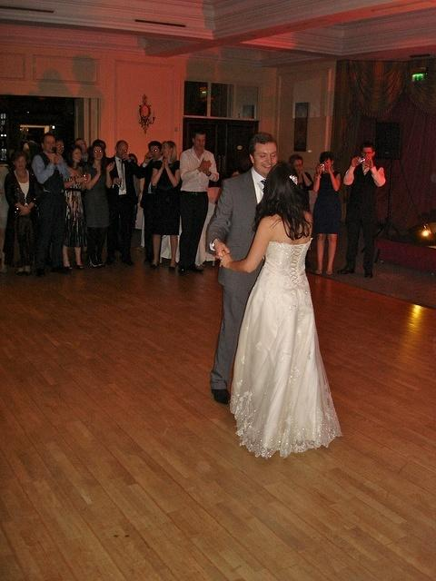 The Bride and Groom have the first dance