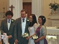 Nick, Will, Eiméar and Jennie after the ceremony